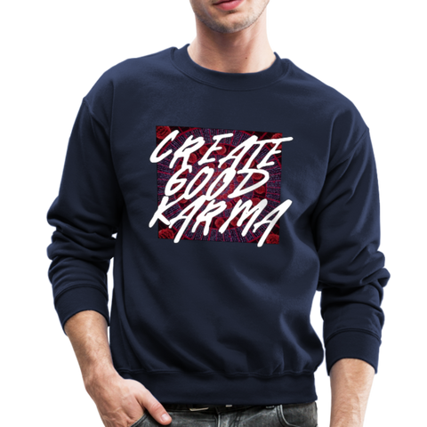 Create Good Karma - Crewneck Sweatshirt - navy