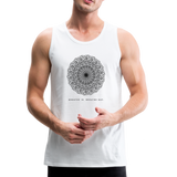 Breathe - Men's Premium Tank - white