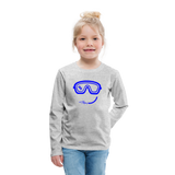 Happy (Goggles) - Kids' Premium Long Sleeve T-Shirt - heather gray