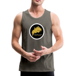 Breathe and Live Good Karma - Men's Premium Tank - asphalt gray