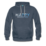 Happy Snowboarding - Men's Premium Hoodie - heather denim