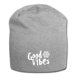 Good Vibes Snow - Jersey Beanie - heather gray