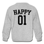 Happy One - Kids' Crewneck Sweatshirt - heather gray