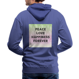 Peace Love Happiness Forever - Men's Premium Hoodie - royalblue