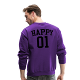 Happy One - Crewneck Sweatshirt - purple