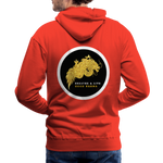 Breathe and Live Good Karma - Men's Premium Hoodie - red
