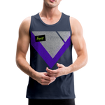 Happy Script - Men's Premium Tank - navy