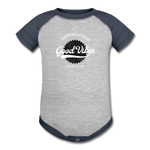 Good Vibes Giver - Baseball Baby Bodysuit - heather gray/navy