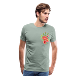 Happy Bloom - Premium T-Shirt - steel green
