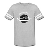 Good Vibes Giver - Vintage Sport T-Shirt - heather gray/white