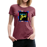 Beautiful Soul - Women's Premium T-Shirt - heather burgundy