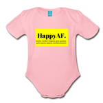 Happy Baby - Organic Short Sleeve Baby Bodysuit - light pink