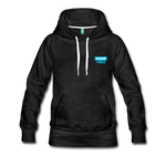 Good Vibes (Cool Blue) - Women's Premium Hoodie - charcoal gray