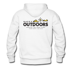 Happy Outdoors - Men's Premium Hoodie - white