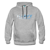Happy Snowboarding - Men's Premium Hoodie - heather gray