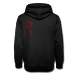 Love Life (Heart) - Unisex Shawl Collar Hoodie - black