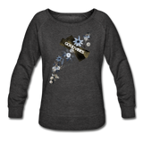 Good Vibes Winter Bloom - Women's Crewneck Sweatshirt - heather black