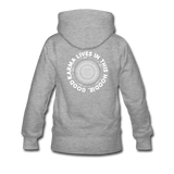 Good Karma - Women's Premium Hoodie - heather gray
