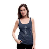 Good Karma Lives - Women's Premium Tank Top - navy