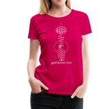 Good Karma Lives - Women's Premium T-Shirt - dark pink