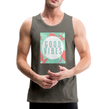 Good Vibes (Summer) - Men's Premium Tank - asphalt gray