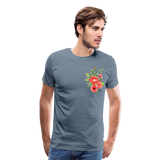 Happy Bloom - Premium T-Shirt - steel blue