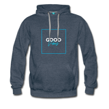Good Vibes Bright - Men's Premium Hoodie - heather denim