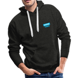 Good Vibes (Cool Blue) - Men's Premium Hoodie - charcoal gray