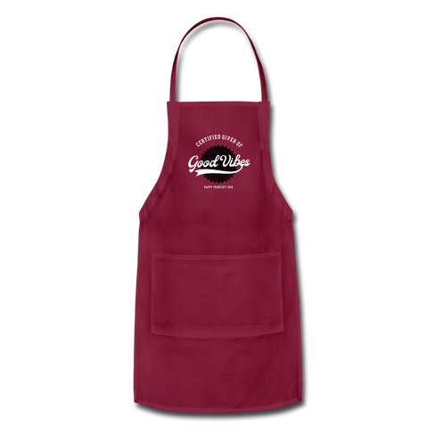 Good Vibes Giver - Adjustable Apron - burgundy
