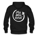 Smile. Shred. Repeat - Men's Premium Hoodie - black