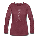 Good Karma Lives - Women's Premium Long Sleeve T-Shirt - heather burgundy