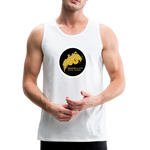 Breathe and Live Good Karma - Men's Premium Tank - white