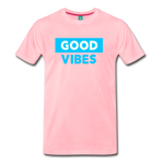 Good Vibes (Cool Blue) - Men's Premium T-Shirt - pink