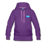 Good Vibes (Cool Blue) - Women's Premium Hoodie - purple