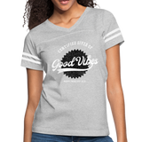 Good Vibes Giver - Women's Vintage Sport T-Shirt - heather gray/white