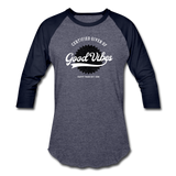 Good Vibes Giver - Baseball T-Shirt - heather blue/navy