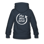 Smile. Shred. Repeat - Women's Premium Hoodie - navy