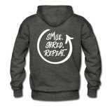 Smile. Shred. Repeat - Men's Premium Hoodie - charcoal gray