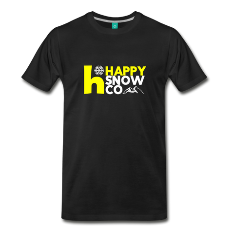 Happy Snow  = Men's Premium T-Shirt - black
