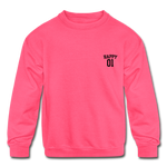 Happy One - Kids' Crewneck Sweatshirt - neon pink