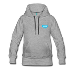 Good Vibes (Cool Blue) - Women's Premium Hoodie - heather gray