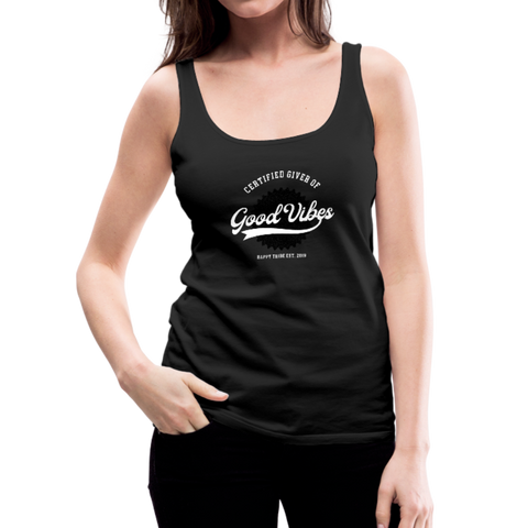 Good Vibes Giver - Women's Premium Tank Top - black