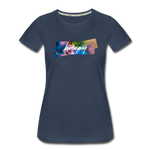 Happy Splash - Women's Premium Organic T-Shirt - navy