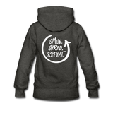 Smile. Shred. Repeat - Women's Premium Hoodie - charcoal gray