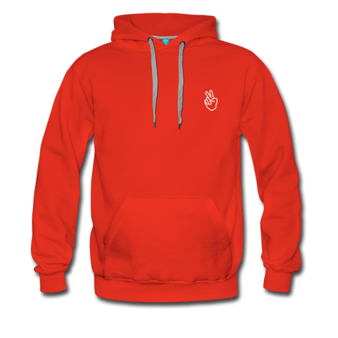 Peace Out - Men's Premium Hoodie - red