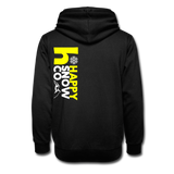 Happy Snow Shawl Collar Hoodie - black