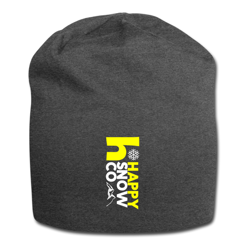 Happy Snow - Jersey Beanie - charcoal gray