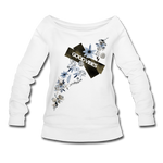 Good Vibes Winter Bloom - Women's Wideneck Sweatshirt - white