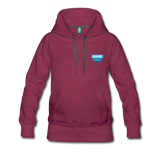 Good Vibes (Cool Blue) - Women's Premium Hoodie - burgundy