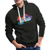 Love & Happiness Forever - Men's Premium Hoodie - charcoal gray